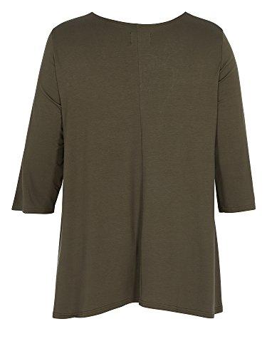 Zizzi Camiseta larga tallas grandes Mujer caqui