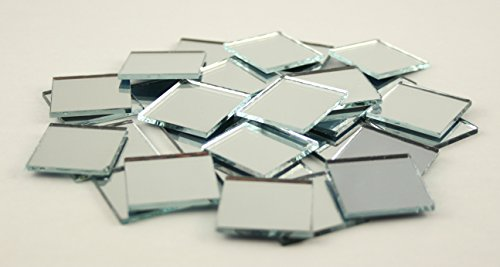 1 inch small glass square craft mirrors bulk 100 pieces for Craft mosaic tiles bulk