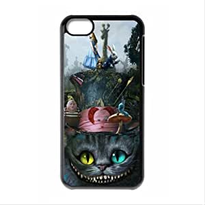 MMZ DIY PHONE CASEAlice in Wonderland the Cheshire Cat Always Grin Especial Durable Hard Plastic Case Cover Fits Apple iphone 5/5s Design Yedda DIY