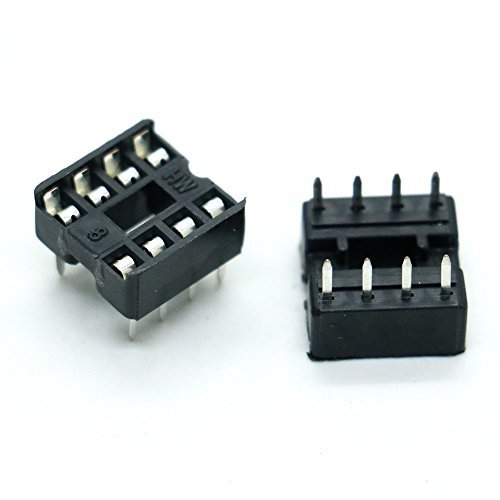 HUELE 50PCS 8 Pin DIP IC Sockets Adaptor Solder Type Socket