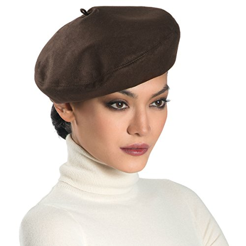 Eric Javits Luxury Fashion Designer Women's Headwear Hat - Betty - Brown
