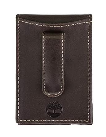Timberland Men's Delta Minimalist Slim Money Clip Wallet, Brown, One Size