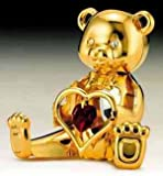 Teddy Bear Garnet Swarovski January Birthstone Figure