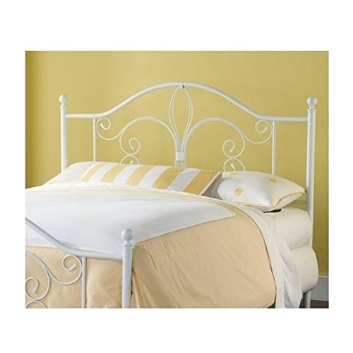 Hawthorne Collections King Metal Headboard in White