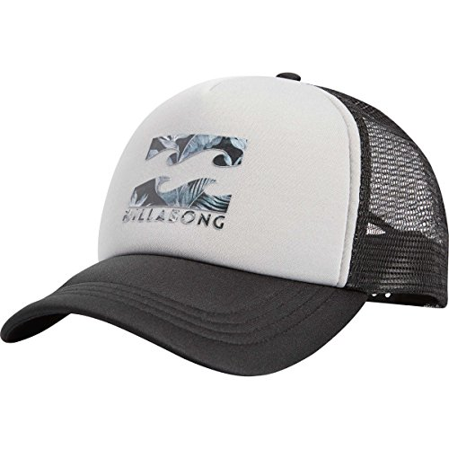 Billabong Men's Podium Adjustable Trucker Hat, Light Grey, One Size (Billabong Men Hat)