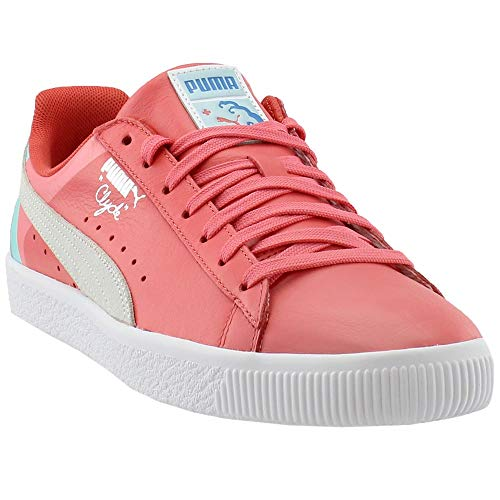 PUMA Men's Clyde - Pink Dolphin Porcelain Rose 10.5 D US