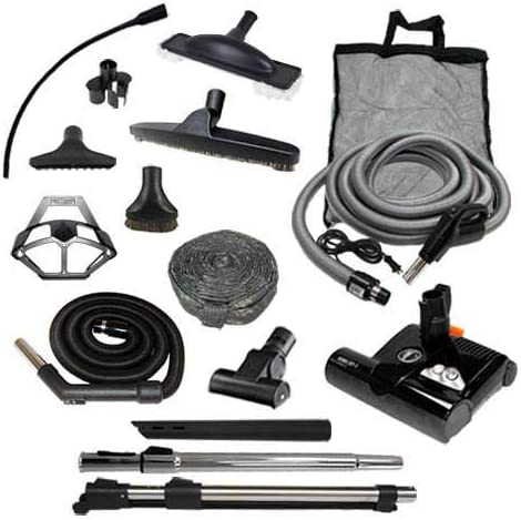 Diamond Central Vacuum Accessory Kit with Sebo ET-2 Powerhead Direct Connect, 35
