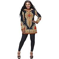 shenbolen las mujeres ropa de moda de manga larga Escudo Ankara africano Dashiki de impresión largo para hombre