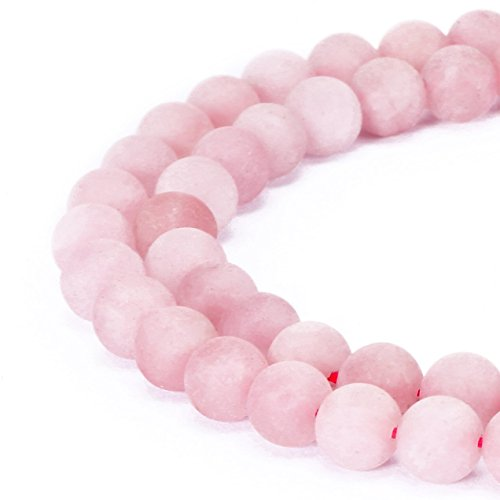 Natural Rose Quartz Stone Beads Pink Round Faced Matte Gemstone Loose Beads For Jewelry Making 2MM 3MM 4MM 6MM 8MM 10MM 12MM (8MM, Rose Matte)
