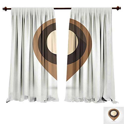 Panels Sun Blocking Curtains Cabbage Flat Mapping pin icon1 Window Drapes for Living Room Bedroom - Xtra Large Flat Panel