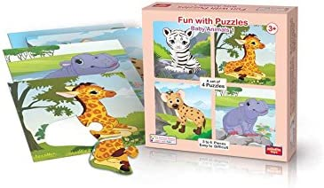 ANINDITA TOYS FUN WITH PUZZLES BABY ANIMALS 1