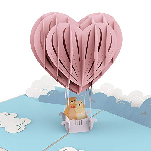Congratulations Wedding Anniversary - Liif Love Balloon 3D Valentines Greeting Pop Up Card For All Occasions, Happy Birthday, Anniversary, Congratulations, Wedding, Valentines Day, Romance, Engagement