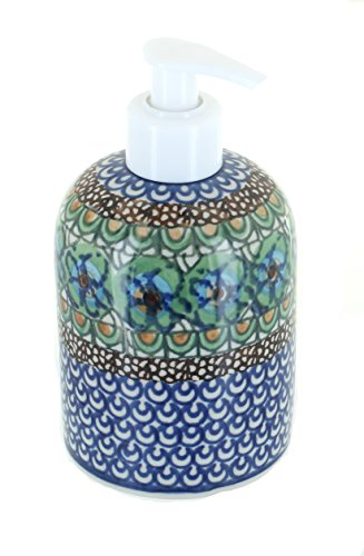 Polish Pottery Mardi Gras Soap Dispenser