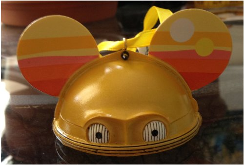 Disney Mickey Mouse Ears Hat Star Wars C3PO Limited Edition Ornament -