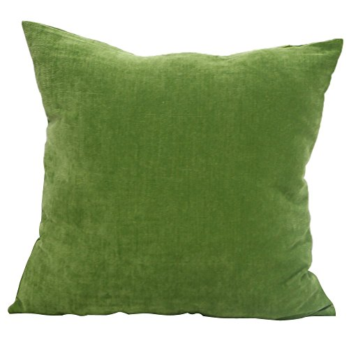 Deconovo Throw Cushion Tufted Home Decorative Hand Made Pillow Case Cushion Cover , 18×18-inch, Green