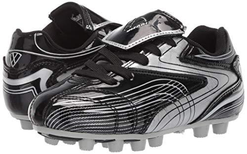 Vizari Striker FG Soccer Shoe (Toddler/Little Kid/Big Kid),Black/Silver,10 M US Toddler by Vizari (Image #6)