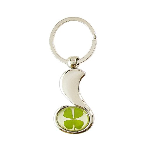 genuine-four-leaf-lucky-clover-shamrock-crystal-amber-key-chain-thumbs-up-great-job-well-done-
