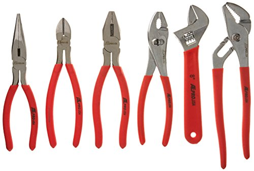 ATE Pro. USA 30247 Forged Plier and Mechanic Set, 6 Piece