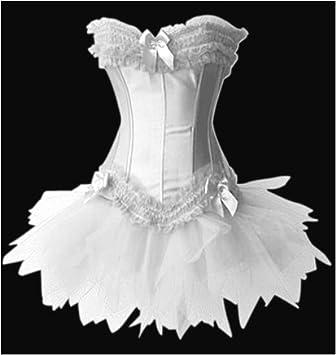 d975cf1da16 Forever Young Burlesque Moulin Rouge Lolita FANCY DRESS Costume Oufit 2  Piece Corset + Tutu Skirt - Small UK 8-10  Amazon.co.uk  Toys   Games