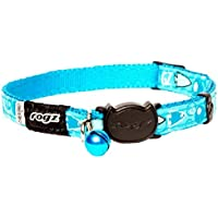 Rogz Fancycat Safeloc Cat Collar, Blue