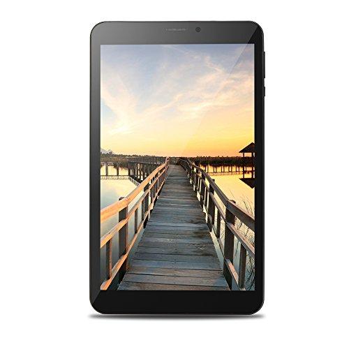 OYYU T81 8 Inch 3G Unlocked Phablet, Android 6.0 Dual SIM Card Phone Call Tablet PC, MTK8321 Quad Core 16GB ROM IPS Display 1280x800, with Dual Camera Wi-Fi GPS Bluetooth OTG Black rear