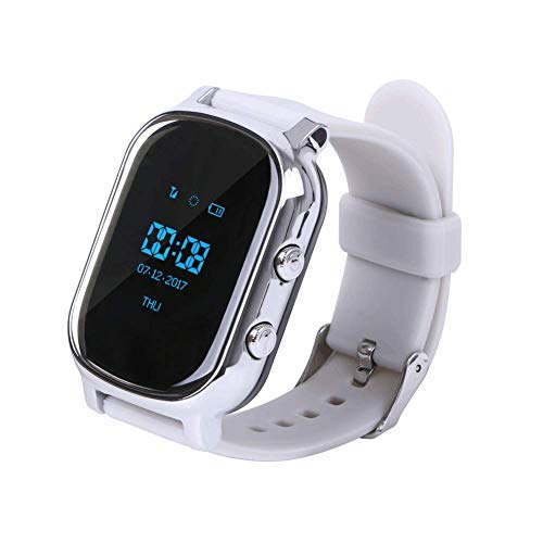Hangang GPS Tracker for Kids Children Smart Watch Kids Wrist Watch T58  Anti-Lost SOS Call Location Finder Remote Monitor Pedometer Functions  Parent
