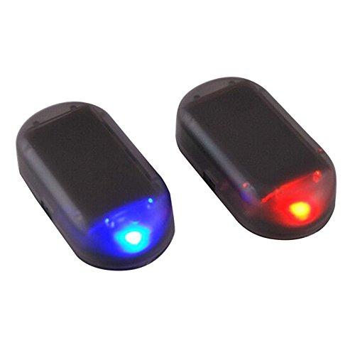 YUIOP Car Alarm LED Light, Warning LED Light,1 Pack Solar Power Dummy,LED Light Simulate Imitation Security System Warning Anti-Theft Flash Blinking Lamp