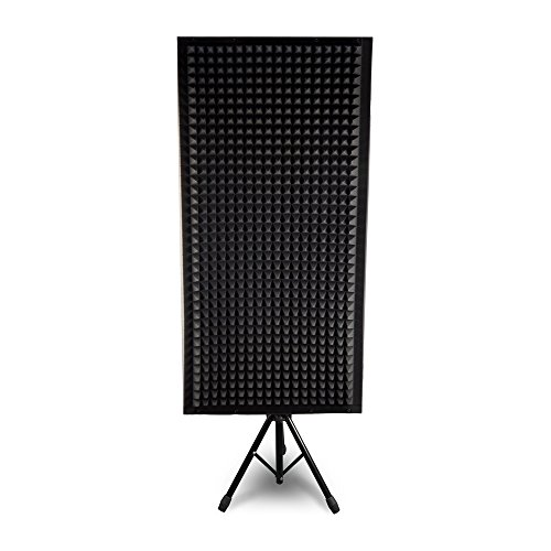 Pyle PSiP24 Acoustic Isolation Absorber Shield Sound Wall Panel Studio Foam and Dampening Wedge with Height Adjustable Stand by Pyle (Image #1)