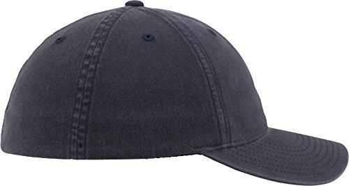 con Azul Gorra de Flexfit azul Unisex marino béisbol algodón Lavado de Acabado FTxRIqz