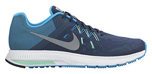 Winflo S Zoom Clair De Bleu Flash Noir Argent Course Nike 2 blanc Chaussures Hommes R5fx5wt