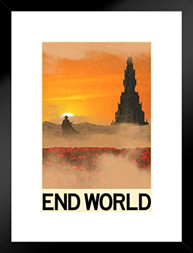 Poster Foundry End World Fantasy Travel Matted Framed Wall Art Print 20x26 inch