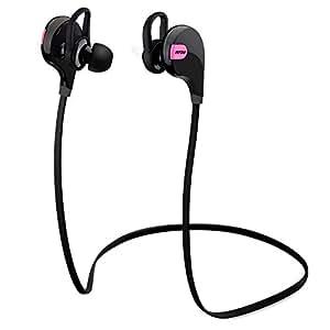 Mpow Swift Bluetooth 4.0 Wireless Stereo Sweatproof Jogger, Running, Sport Headphones Earbuds Earphone with AptX,Mic Hands-free Calling-Pink