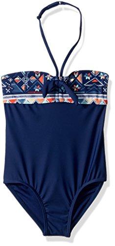 Roxy Big Girls' Little Pretty One Piece Swimsuit, Blue Depths, 7