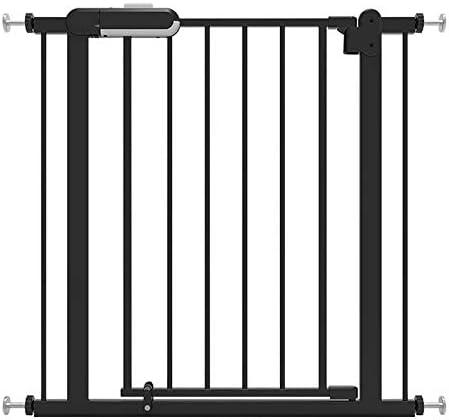 Huo Auto Cerrado Metal Barrera de Seguridad, Abre Facil Puerta de La Escalera Baby Pet Gate (Color : Black, Size : 121-130cm): Amazon.es: Hogar