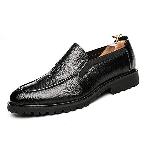 y de Negro Zapatos Oxford Jusheng Elegante EU para cómodos Rojo Textura Hombres Oxford Color tamaño 41 cómodos xzqdgwYaH