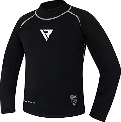 RDX Sauna Suit Neoprene MMA Compression Base Layer Rash Guard Thermal Shirt Top Sweatshirts
