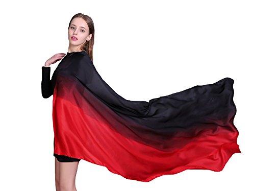 Women's Silk Scarf Lightweight Sunscreen ()