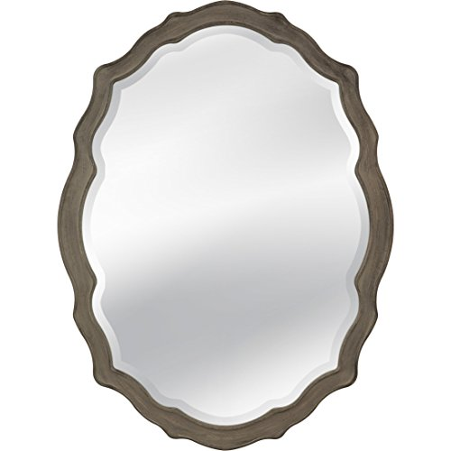 Bassett Mirror M3702BEC Barrington Wall Mirror, Distressed Grey (Barrington Mirror)