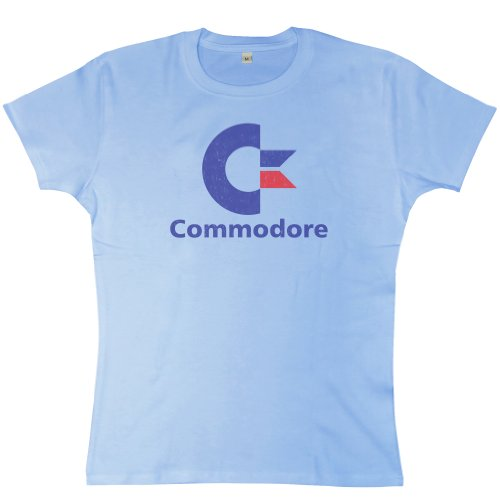 Price comparison product image Womens Commodore 64 T Shirt - Sky Blue - Large (12-14)