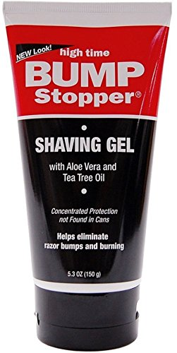 High Time Bump Stopper Shave Gel W/Aloe & Tea Tree Oil 5.3 oz (Pack of 7) by High Time