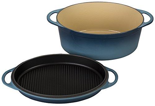Le Creuset of America Cast Iron Cookware Oval Dutch Oven, 7.