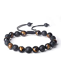 COAI Handmade Shamballa Inspired Genuine Stone Mala Bracelet for Men