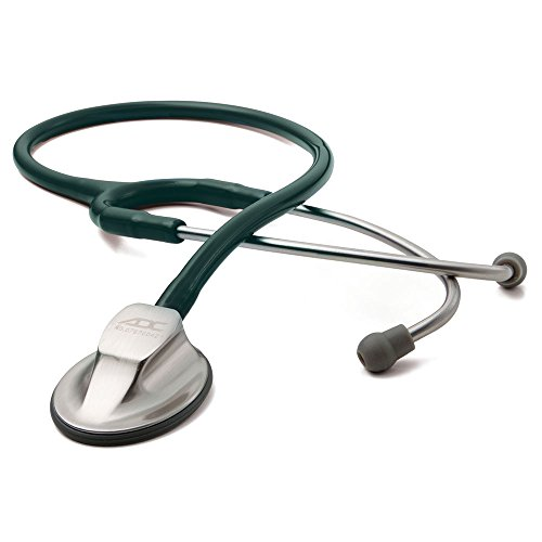 ADC Adscope 615 Platinum Sculpted Clinician Stethoscope with Tunable AFD Technology,, Dark Green