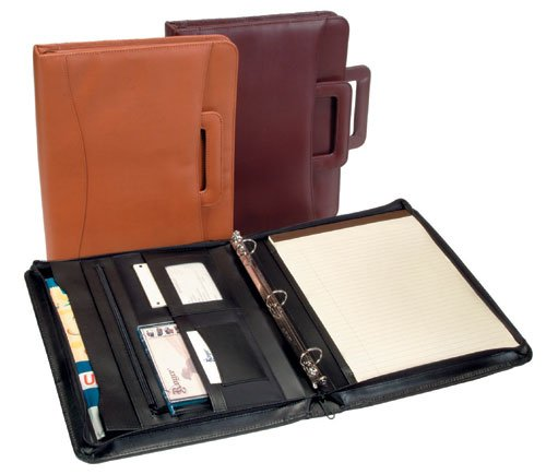Royce Leather Zip Around Binder Padfolio Black by Royce Leather