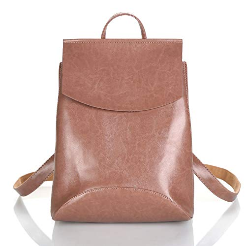 Fashion Women Backpack Youth Leather Backpacks for Teenage Girls Female School Shoulder Bag Bagpack Mochila,Dark Pink