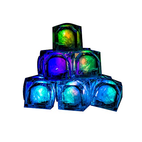(Fun Central (AC966) 12 Count 1.2 Inch LED Light Up Blinky Plastic Ice Cubes, Light Up Ice Cubes, Ice Cubes Light Up, Blinkies, Glowing Ice Cubes, Ice Cube LED, Ice)