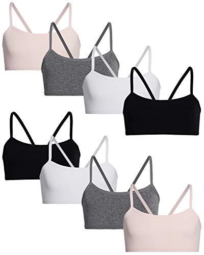 Rene Rofe Girls' Nylon/Spandex Seamless Training Bra (8 Pack)