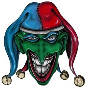 "Amazon.com: 8"" Printed joker jester color air brushed"