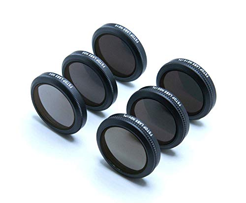 Lens Filters for DJI Mavic 2 Zoom 4K Camera Lens Set, Multi Coated Filters Pack Accessories (6 Pack) ND4, ND8, ND16, ND4/CPL, ND8/CPL, ND16/CPL by Fstop Labs