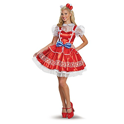 [Disguise Women's Hello Kitty Lolita Adult Costume, Multi, Large] (Hello Kitty Costume For Adults)